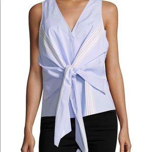 Tie cotton top by Derek Lam 10 Crosby. Size 4. NWT
